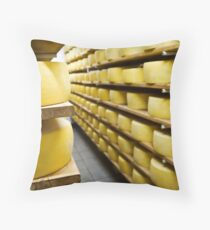 Cheese drying Throw Pillow