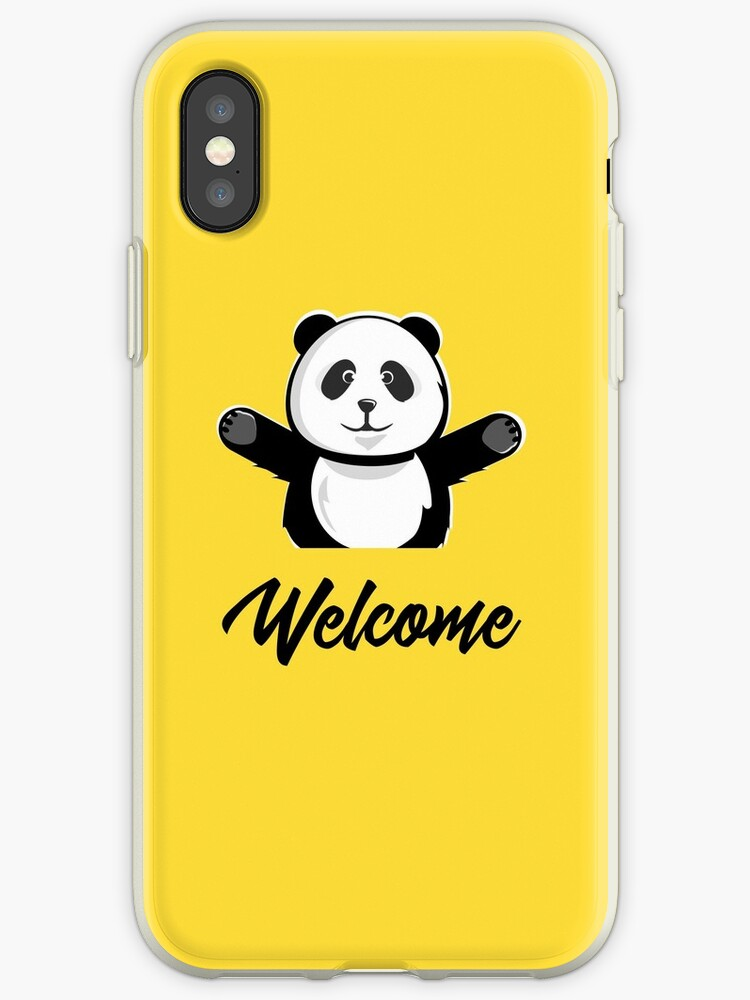 Welcome Cute Panda | Animal Character Art by CarlosV