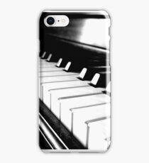 Black and White Piano Keyboard iPhone Case/Skin