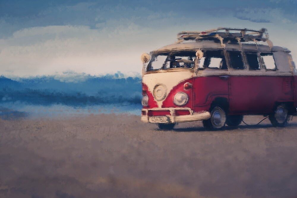 Classic car -  oil on canvas by Helinton Andruchechen