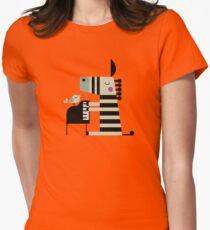Music Zebra Women's Fitted T-Shirt