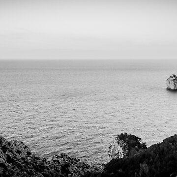 Formentor Panorama BW – Mallorca / Majorca by lesslinear