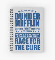 Dunder Mifflin Rabies Awareness Race for the Cure Spiral Notebook