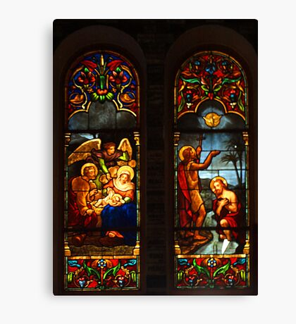 Notre Dame Cathedral, Saigon - leadlight window No 3 Canvas Print