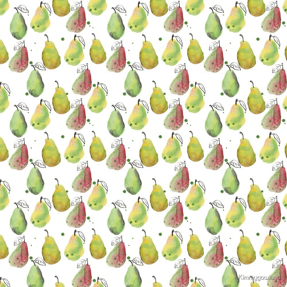 watercolour pears by Kimmygowland