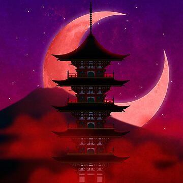 Crimson Pagoda by JFigueira