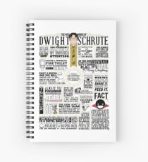 The Wise Words of Dwight Schrute (Light Tee) Spiral Notebook