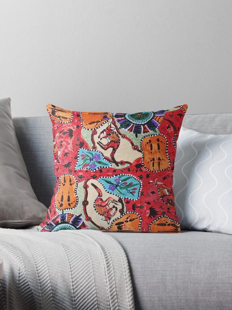 Fabric, Australian, Aboriginal, Collage by Melody Koert