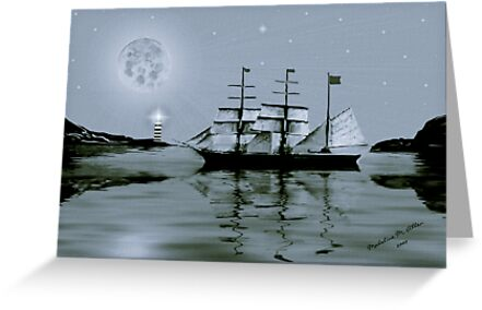 ~ PIRATE'S COVE BY NIGHT ~    by Madeline M  Allen