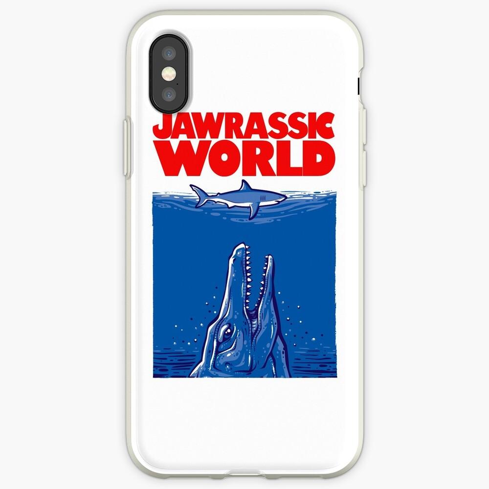 Mundo Jawrassic (variación) Funda y vinilo para iPhone