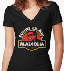 Future ex-Mrs. Malcolm Women's Fitted V-Neck T-Shirt