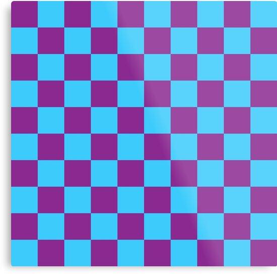 Checkered Pattern: Blue & Purple by MilitaryCandA