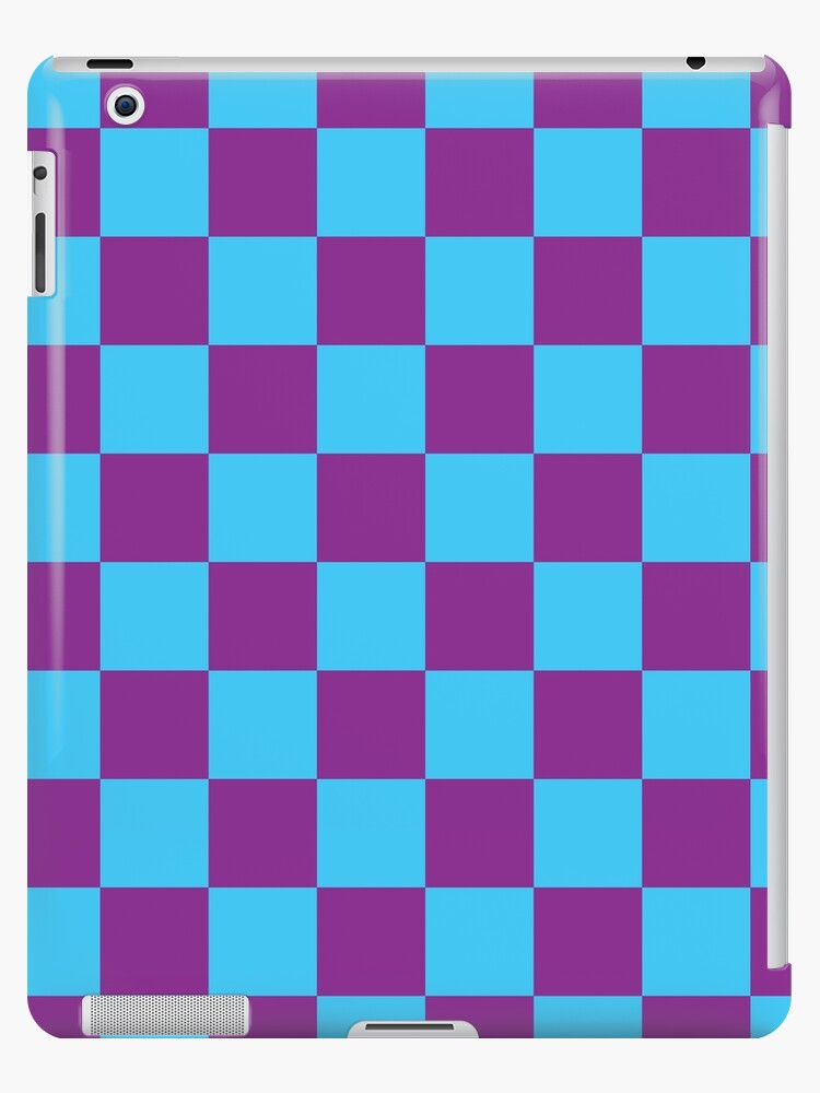 Checkered Pattern: Blue & Purple by MilitaryCandA