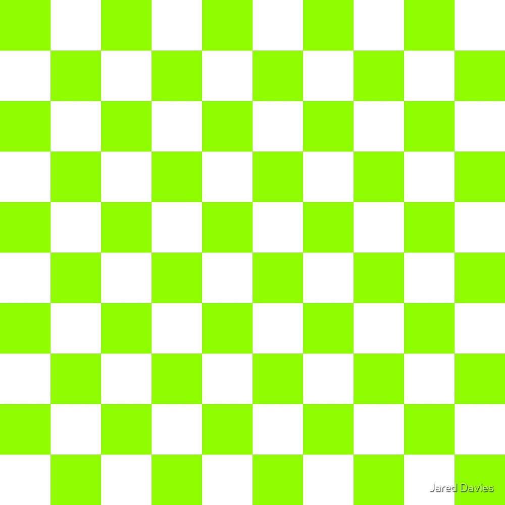 Green, Lime: Checkered Pattern by MilitaryCandA
