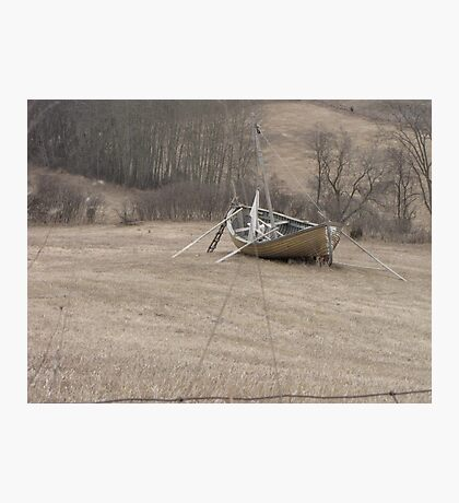 Lawn Boat Photographic Print