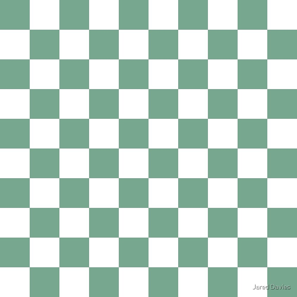 Checkered Pattern: Seafoam Green by MilitaryCandA