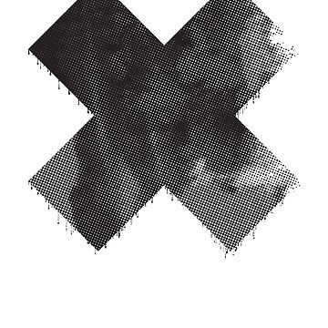 Large Distressed Dripping X - BLACK by DesignFools