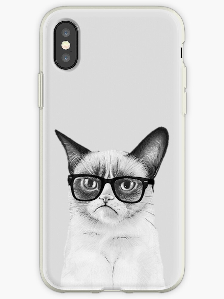 Enervated cat with glasses by LaGargouille