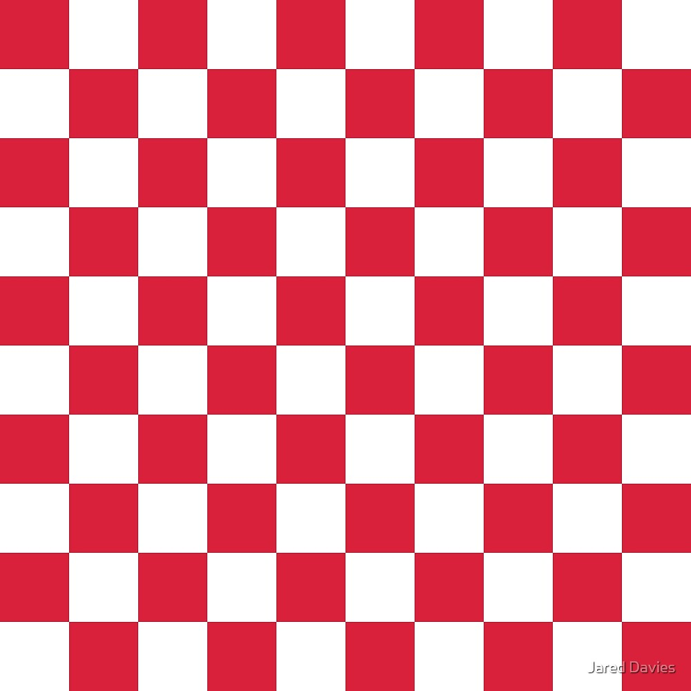Red, Cherry: Checkered Pattern by MilitaryCandA