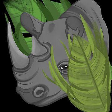 Rhino Conservation Animal Design by waltondt