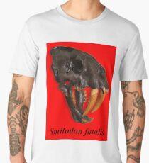 Smilodon fatalis, the Sabre Toothed Cat Men's Premium T-Shirt