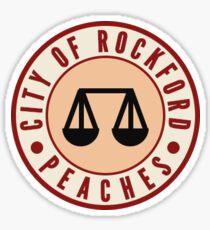 ROCKFORD PEACHES  Sticker