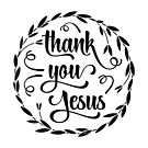 Thank You Jesus Wreath Design by Kelsorian