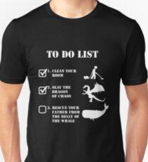 Aufgabenliste - Jordan Peterson (weiß) Unisex T-Shirt