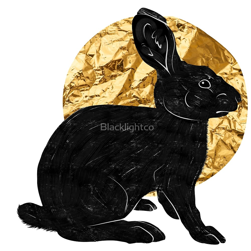 Moon Hare by Blacklightco