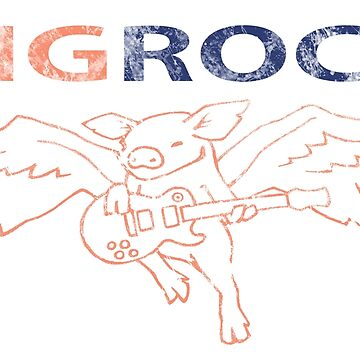 Flying Pig Guitar Angel by Hackers
