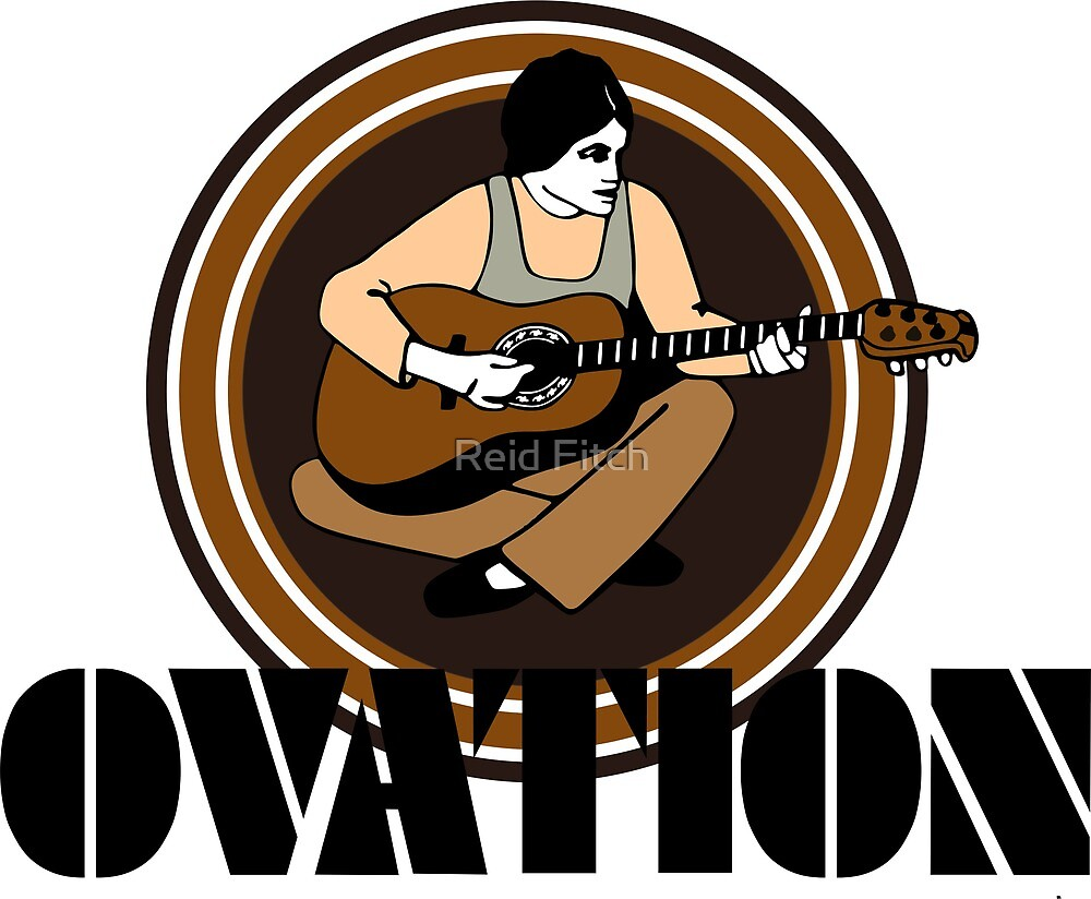 Vintage Ovation Guitars String Fling Black by Reid Fitch