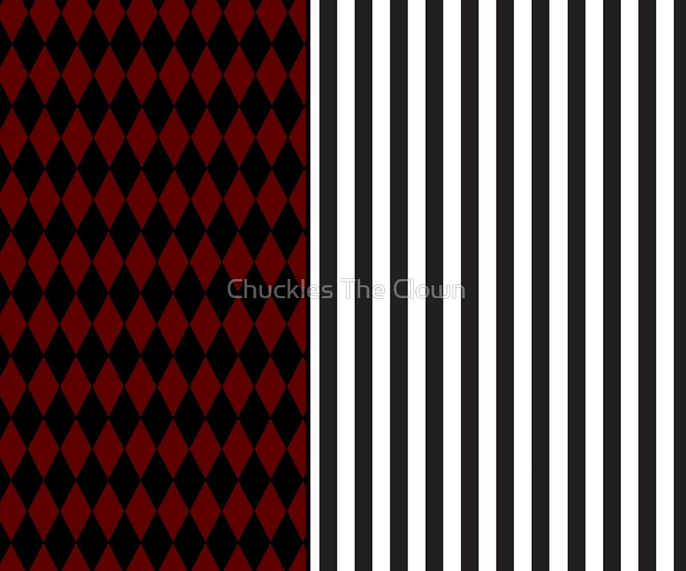 Black, White, and Red Leggings by Chelsea Monheim