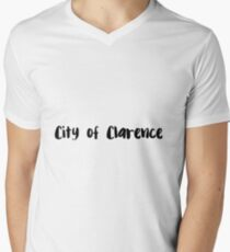 City of Clarence Men's V-Neck T-Shirt