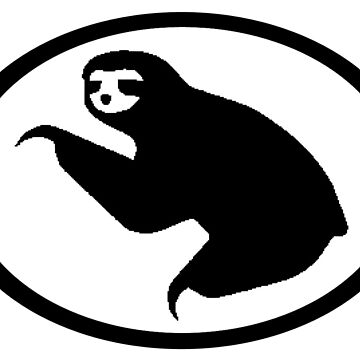 Sloth Euro style Car Sticker by GrokkoW