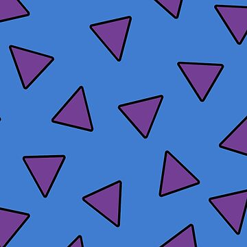 """The Modern Life"" - Rocco, Cartoon, 90s, Nineties, Vintage, Retro, Inspired, Wombat, Australia, Aussie, Shirt, Triangle, Purple, Blue, Geometric, Fan, Fandom  by CanisPicta"