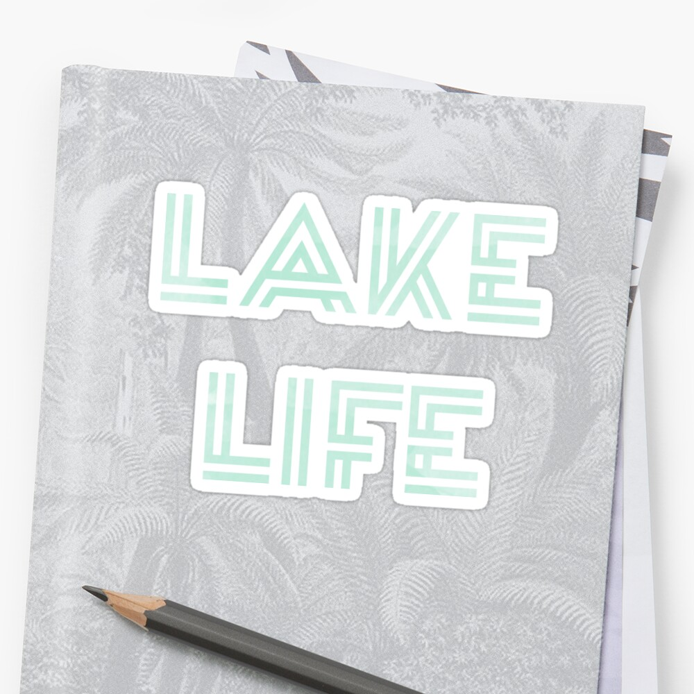 Mint Watercolor Lake Life Design by Jodie Andrews
