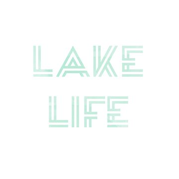 Mint Watercolor Lake Life Design de jashirts