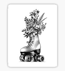 Vintage roller skate   Sticker