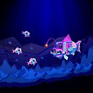 Anglerfish, lie and bioluminescence by enriquev242
