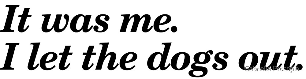 I Let The Dogs Out - Saying by Gabriella Procopio