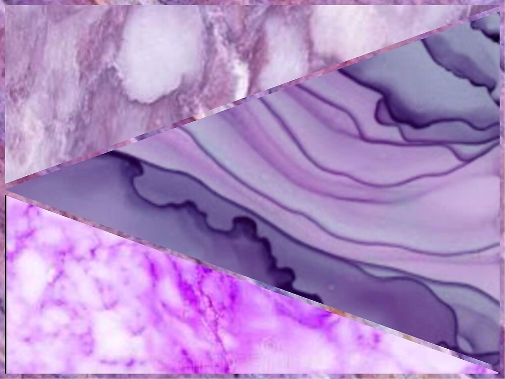 Purple Marble Agate Design  by Milenaek