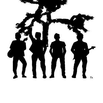 Irish Rock Stars In Black And White by jeremygwa