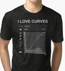 I LOVE CURVES - Photoshop/Photography Tri-blend T-Shirt