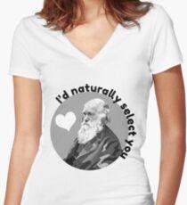 Darwin Love Women's Fitted V-Neck T-Shirt