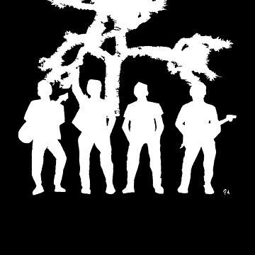 Irish Rock Stars White On Black by jeremygwa
