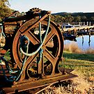 Boat Winch at Sunrise by Rachael Clancy
