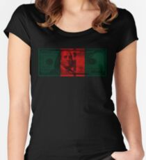 Luxury money Women's Fitted Scoop T-Shirt