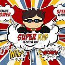 Get Well for Kids Boy Superhero Comic Book Theme  by Doreen Erhardt