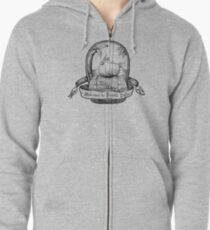 Welcome to Puerto Pollo Zipped Hoodie