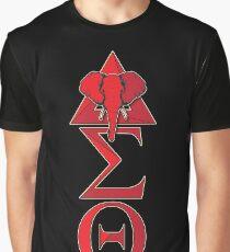Elephant Delta Triangle Sigma Red Theta T-Shirt 2 Graphic T-Shirt
